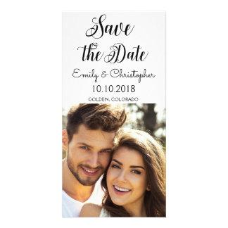 Cartão Economias rotuladas mão do casamento do roteiro a