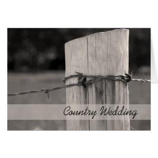 Cartão Economias rurais do casamento do país do cargo da