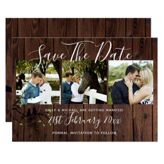 Cartão Economias rústicas da colagem da FOTO o casamento
