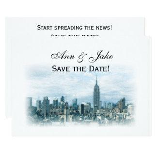 Cartão Economias sonhadoras da skyline da cerceta NYC a