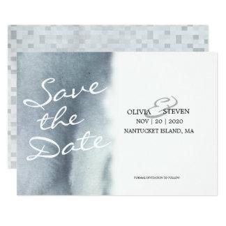 Cartão Economias sonhadoras do casamento da aguarela do