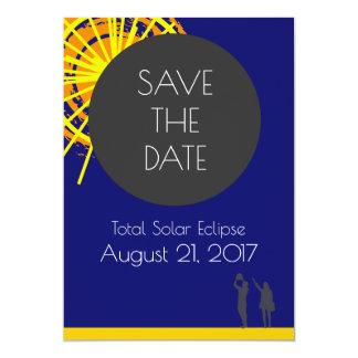 Cartão Economias totais do eclipse solar a data