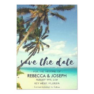 Cartão Economias tropicais do casamento de praia da brisa
