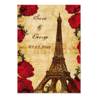 Cartão economias vermelhas de Paris da torre Eiffel do