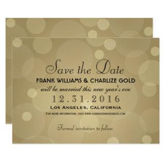 Cartão Economias Wedding o ouro da data | Champagne