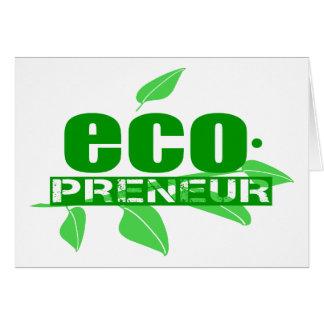 Cartão Ecopreneur com hífen das folhas, do ramo e do