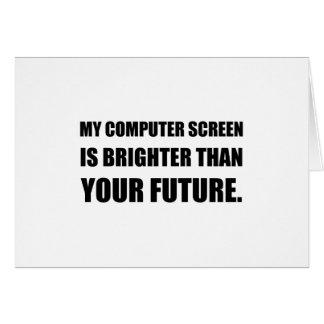 Cartão Ecrã de computador mais brilhante do que o futuro