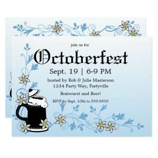 Cartão Edelweiss e caneca de cerveja Oktoberfest elegante
