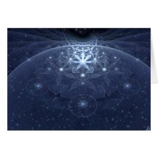 Cartão Edelweiss floresce a arte do Fractal