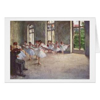 Cartão Edgar Degas | o ensaio do balé