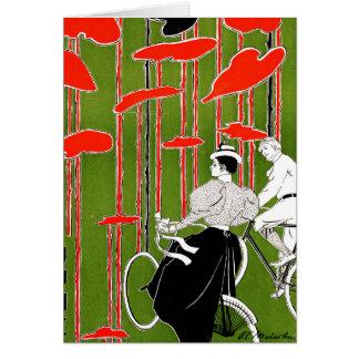 Cartão Edição 1896 da bicicleta do vintage