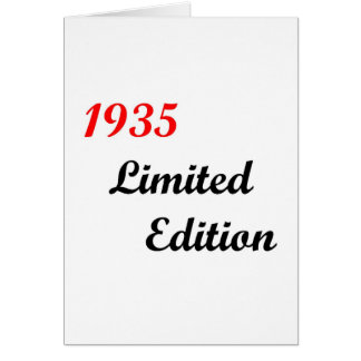Cartão Edição 1935 limitada