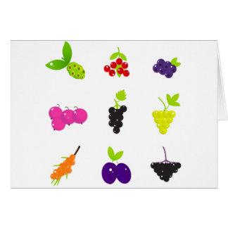 Cartão Edição desenhado mão bonito da fruta da arte