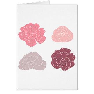 Cartão Edição desenhado mão original dos rosas