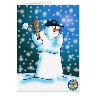 Cartão Edição do aniversário da bola da neve de Nashua