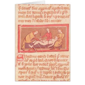 """Cartão edição do """"livro da cirurgia"""" por Rogier de"""