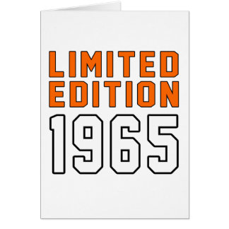 Cartão Edição limitada 1950 designs do aniversário