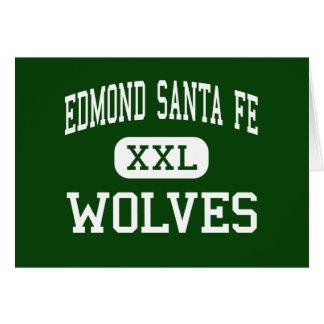 Cartão Edmond Santa Fé - lobos - alto - Edmond Oklahoma