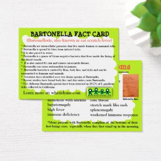 Cartão educacional do fato de Bartonella