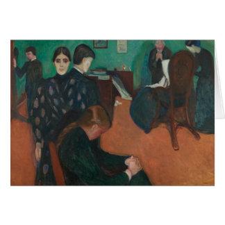 Cartão Edvard Munch - morte no Sickroom