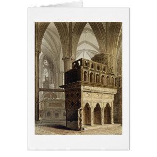 Cartão Edward o monumento do Confessor, placa M 'de Wes