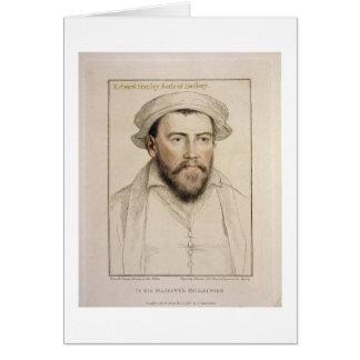 Cartão Edward Stanley Earle de Darby (1508-1572) gravado
