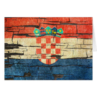 Cartão Efeito croata rachado da pintura da casca da