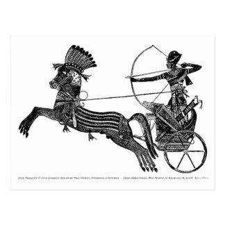 Cartão egípcio da arte do vintage do rei Ramesses
