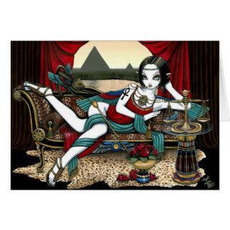 """Cartão egípcio do anjo de Maat da deusa de """"Mayet"""""""