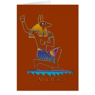 Cartão egípcio do deus de ANUBIS