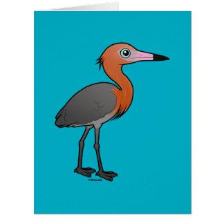 Cartão Egret avermelhado de Birdorable (a obscuridade