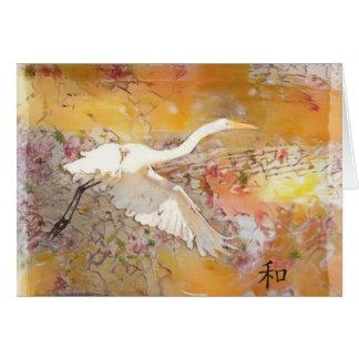 Cartão Egret/harmonia