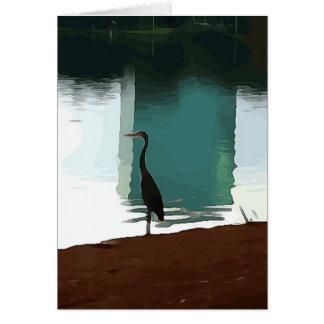 Cartão Egret no lago Eola