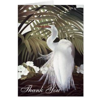"""Cartão Egret """"obrigado que você"""" carda"""