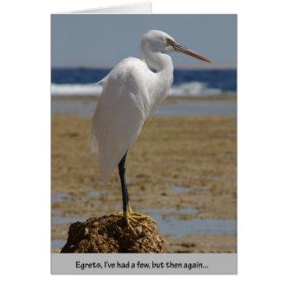 Cartão Egrets eu tive alguns