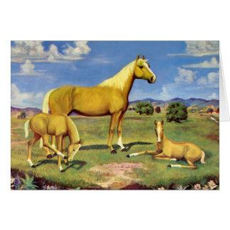 Cartão Égua e Colts do Palomino