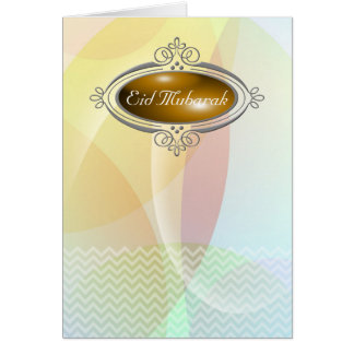 Cartão Eid Mubarak PastelChevron