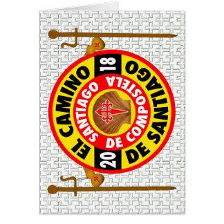 Cartão EL Camino de Santiago 2018