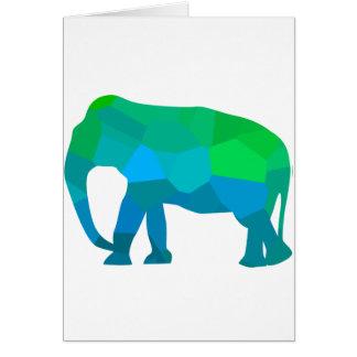 Cartão Elefante 1 do mosaico