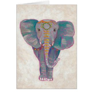 Cartão Elefante asiático do zen