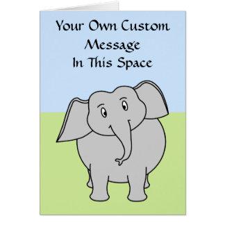 Cartão Elefante cinzento