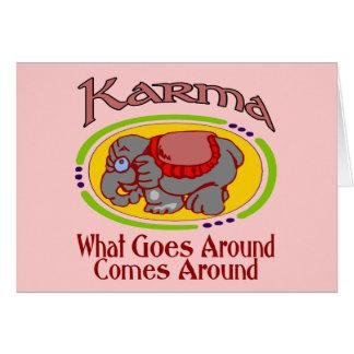 Cartão Elefante das karmas