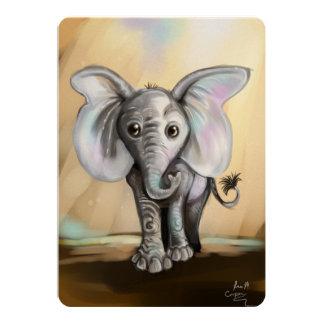 Cartão Elefante do bebê