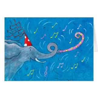 Cartão Elefante do toque de trombeta