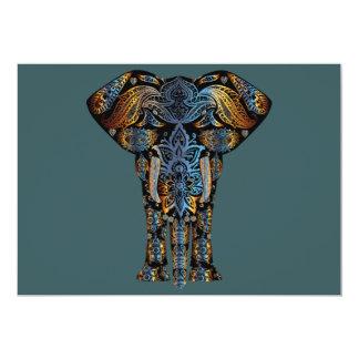 Cartão Elefante indiano