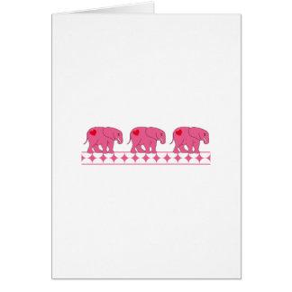 Cartão Elefantes da objectiva tripla