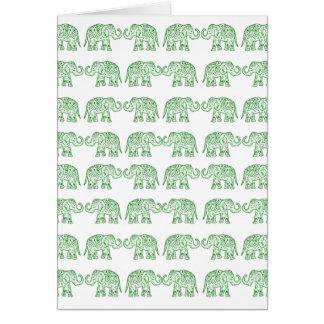 Cartão Elefantes indianos