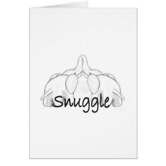 Cartão Elefantes Snuggling