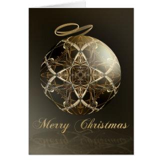 Cartão Elegância de bronze--Natal