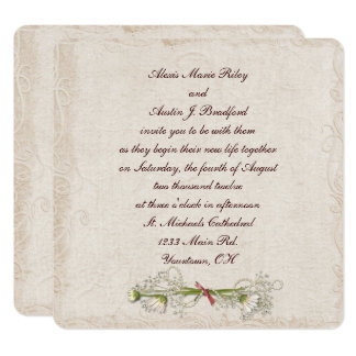 Cartão Elegância do casamento da margarida